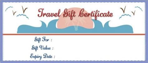 Vacation Gift Certificate Template 34 Word Psd Files For Travel Agencies Demplates Printable Travel Voucher Template
