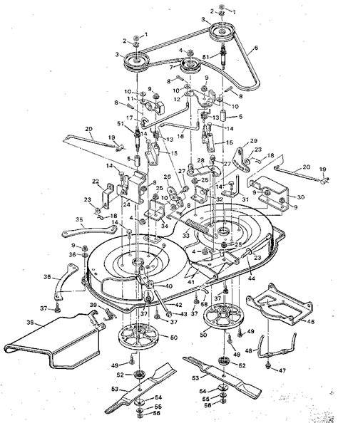 murray parts diagram mower housing diagram parts list for model 9 38600