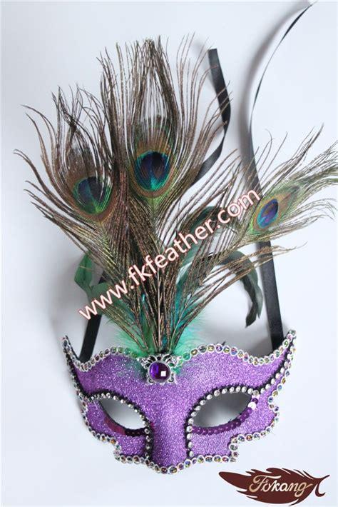 Kipas Bulu Merak karnaval topeng bulu merak dengan berlian untuk