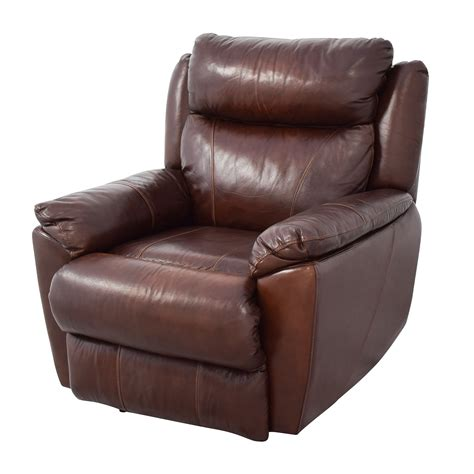 powered recliners leather 61 off macy s macy s brown leather power recliner chairs