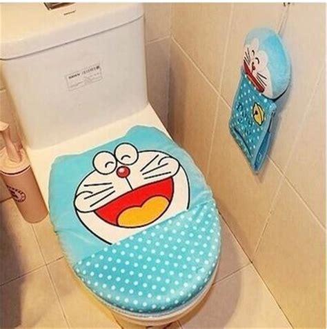 Doraemon Polka doraemon soft plush blue polka dot toilet seat