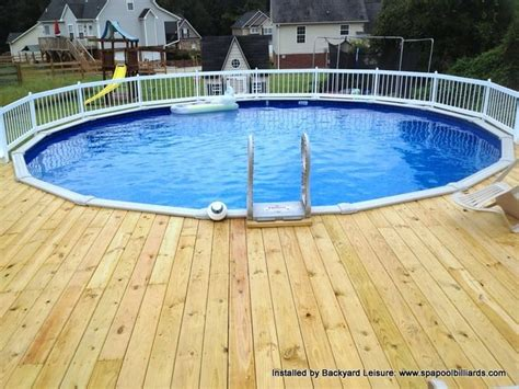 above ground with decking tubs and pools