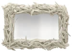driftwood bathroom mirror custom driftwood mirror white gloss eclectic wall