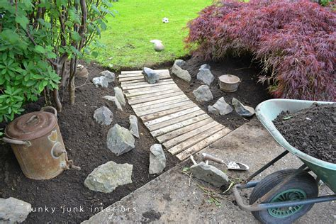 Wood Garden by A Pallet Wood Garden Walkwayfunky Junk Interiors