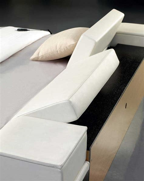 Adjustable Headboards by Portofino White Modern Bed With Adjustable Leatherette