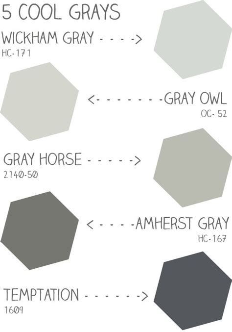 cool gray paint colors cool grays colour study black white grey pinterest