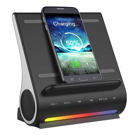 qi charger speaker azpen d100 3 in 1 station bluetooth speaker qi