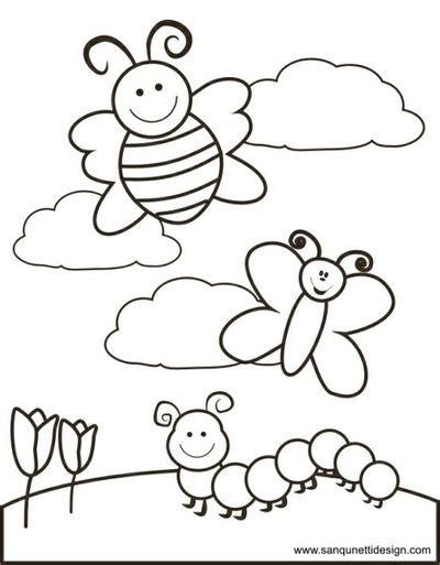 spring coloring pages for kindergarten springtime coloring pages printable coloring image