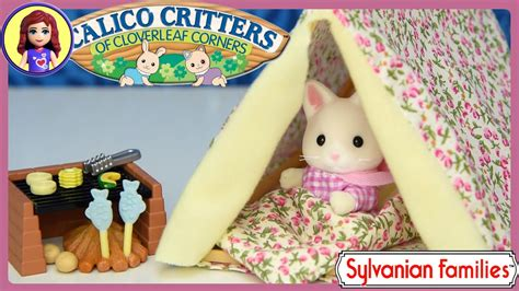sylvanian families calico critters seaside camping set unboxing review play kids toys youtube