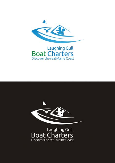 charter boat jobs laughing gull boat charters graphic logo design witmart