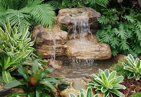 rock pond waterfall kits backyard water garden features