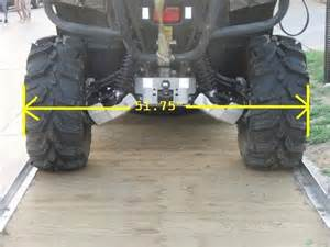 Can U Put Car Tires On A Trailer Pics Of Bikes With Wheel Spacers On Rear Yamaha Grizzly