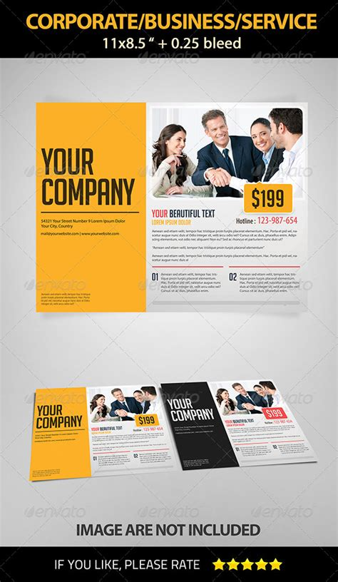 Landscape Corporate Business Service Flyer By Ngelamang Graphicriver Corporate Wellness Template