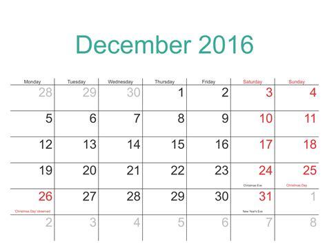 Calendar For December 2016 Printable Calendar Templates Free
