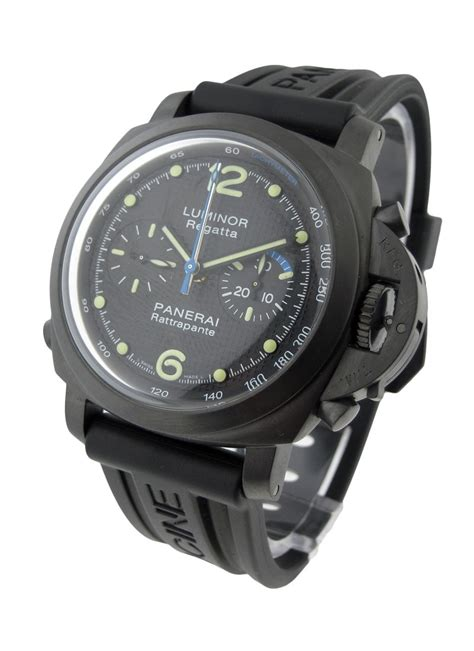Luminor Panerai Rattrapante Black Green pam00332 panerai special editions 2009 essential watches
