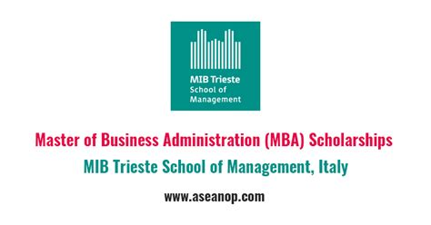Mba Scholarship by Mba Scholarships At Mib Trieste School Of Management
