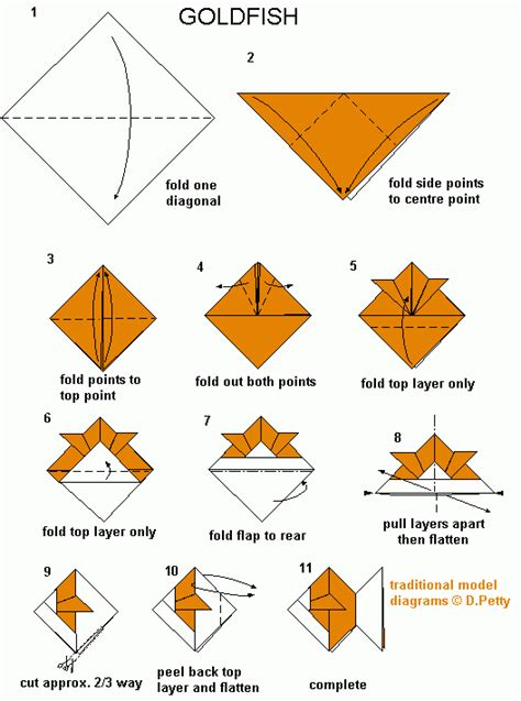 How To Make An Origami Goldfish - 124 goldfish