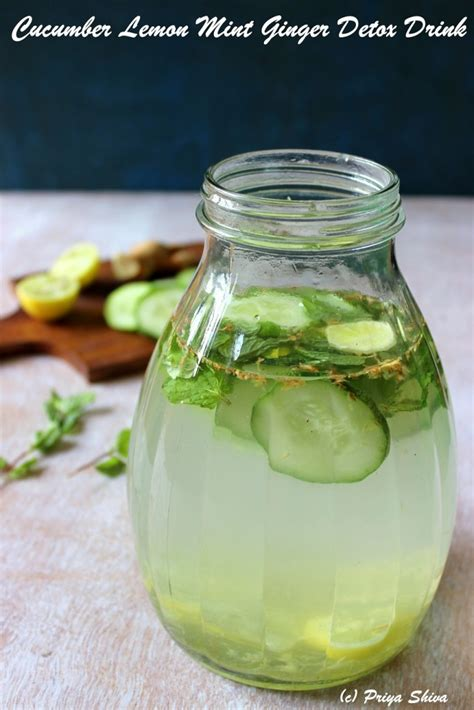 Detox Drink With Mint Leaves by Cucumber Lemon Mint Detox Drink
