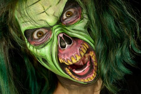 zombie grinch tutorial zombie halloween makeup tutorial advanced make up