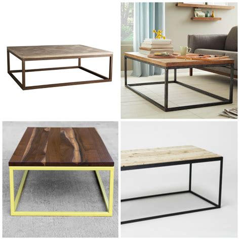 metal frame coffee table diy modern metal coffee table aka the i attempted to