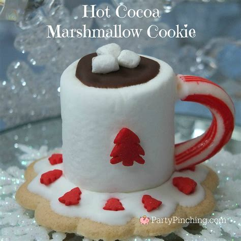 Hot Cocoa Marshmallow Cookies   Party Pinching