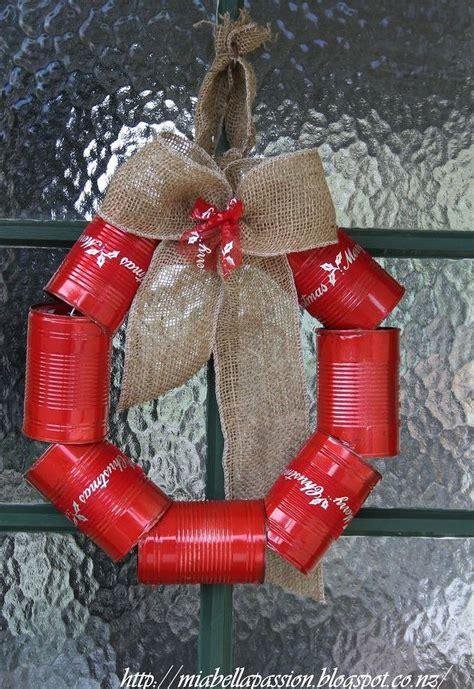 diy tin can wreath for christmas hometalk
