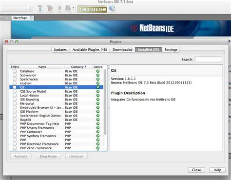 tutorial git netbeans git plugin for netbeans tutorials with git workflow exles