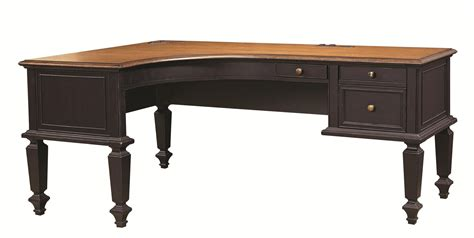 l shaped desk with file drawers aspenhome ravenwood curved half pedestal l shaped desk