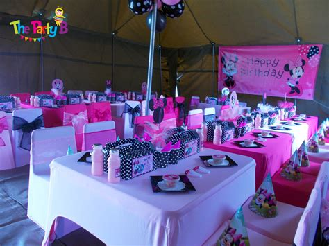 decorations for in themed minnie mouse themed cape town the b