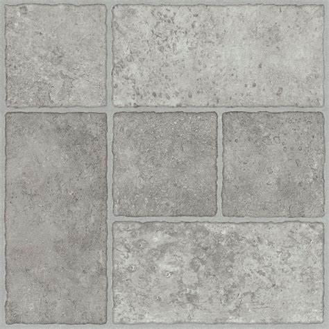 trafficmaster  home sample bodden bay grey peel  stick vinyl tile flooring