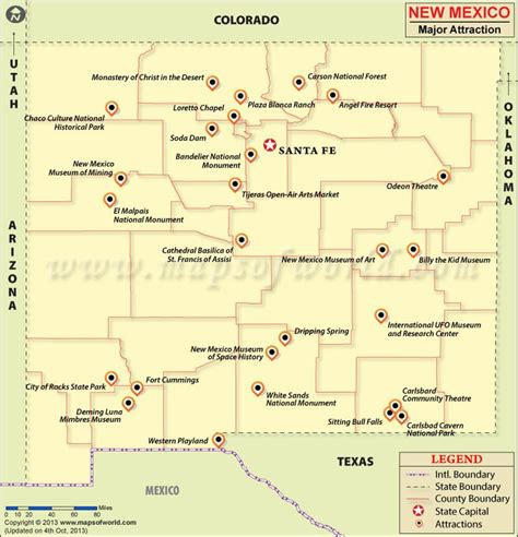 tourist map of mexico 25 best ideas about new mexico map on new