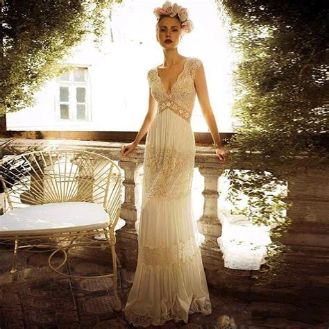 Vintage Ivory Wedding Dresses by Vintage Lace Wedding Dress White Ivory Sheath Bridal Gown
