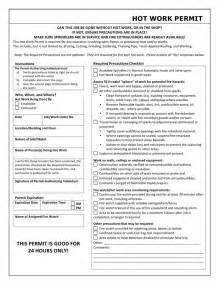 Permit To Work Template by Work Permit Template In Word And Pdf Formats
