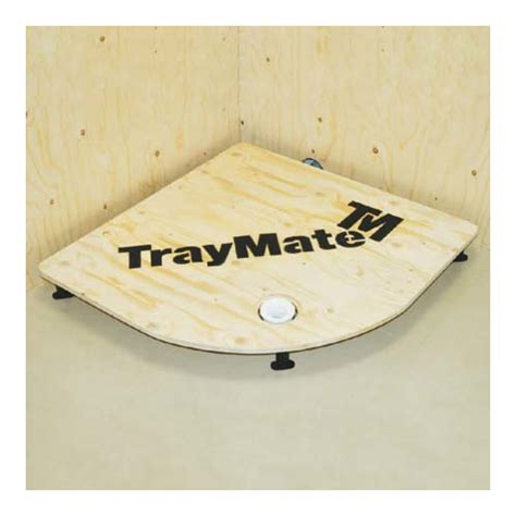 easy plumb 700 x 700mm shower tray kit from traymate only