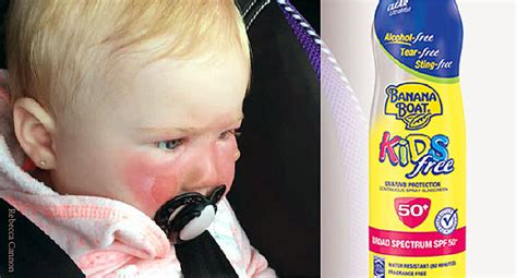 banana boat sunscreen contact harmed by sunscreen what parents need to know