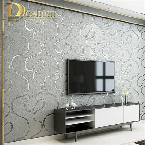 modern wallpaper for walls decosee com high quality thick flocked modern 3d striped wallpaper for
