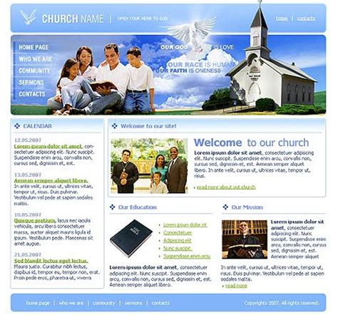 church website template best website templates