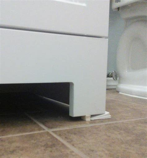 how to fill gap between cabinet and floor conceal gap between floor and bathroom vanity