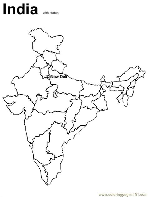 Coloring Pages Of India Map | india coloring pages coloring home