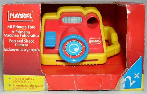 playskool vtg  pop  shoot camera mip  box baby educational toy rare ebay