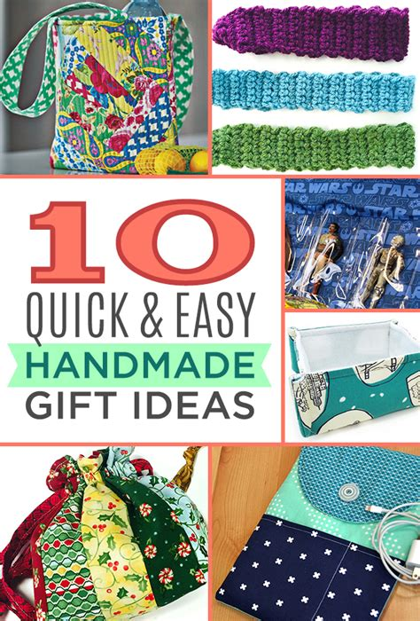 Simple Handmade Gift Ideas - 10 and easy handmade gift ideas