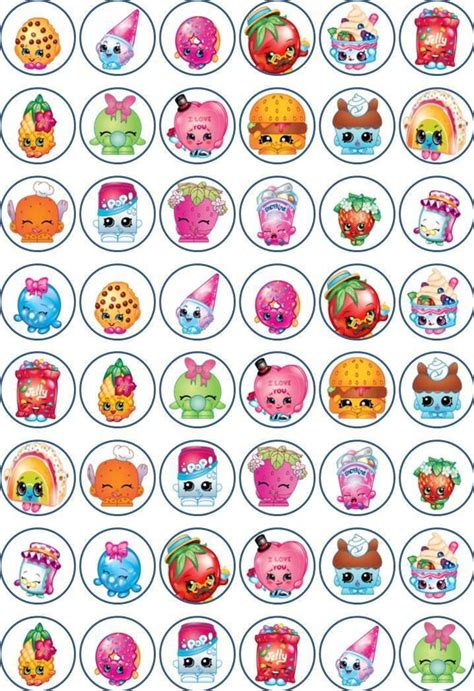 shopkins   cm cupcake toppers edible rice paper  crafts cake decorating ebay shopkins