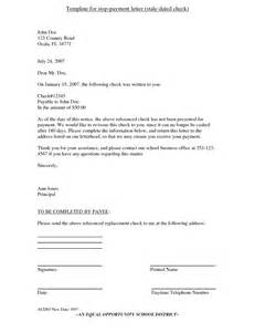Bank Letter To Stop Payment Sle Letter To Bank For Stop Payment Of Cheque Cover Letter Templates