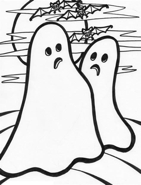 coloring pages ghost free printable ghost coloring pages for kids