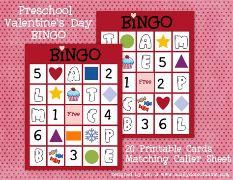 7 funny valentine s day bingo cards for kids