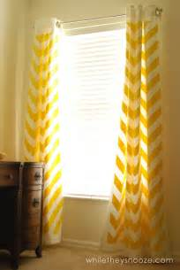 Ikea Sheer Curtains Designs Curtains Yellow Curtains Ikea Designs While They Snooze Diy Chevron Tutorial Windows Curtains