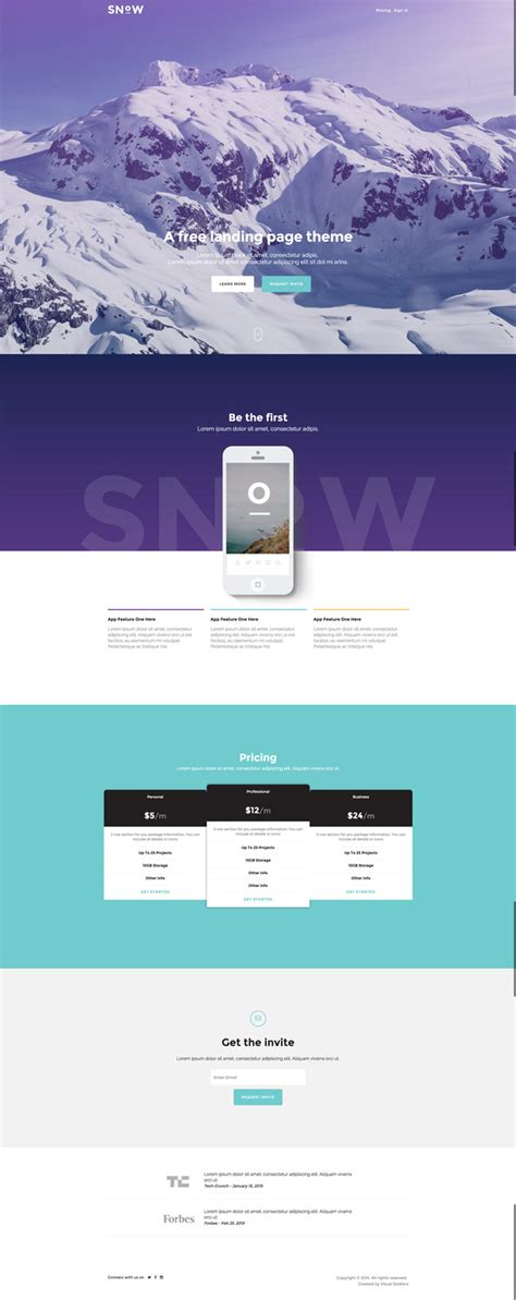 bootstrap themes free landing page 20 free html landing page templates designmaz
