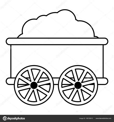 Outline Of A Carriage by Wagon Icon Outline Style Stock Vector 169 Ylivdesign 168156912