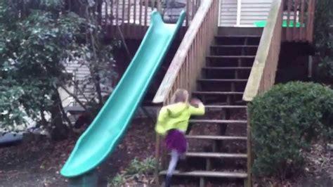 slide deck installed a plastic slide our back deck 14 ft