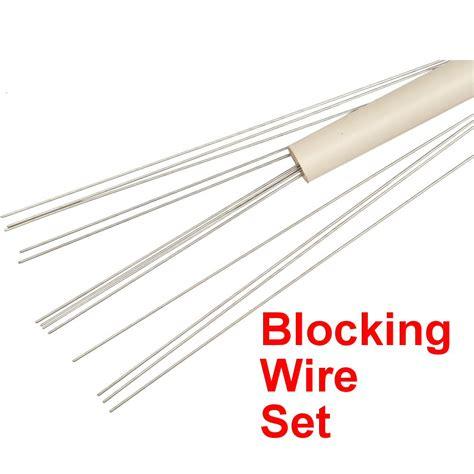 blocking wires lace blocking wire set